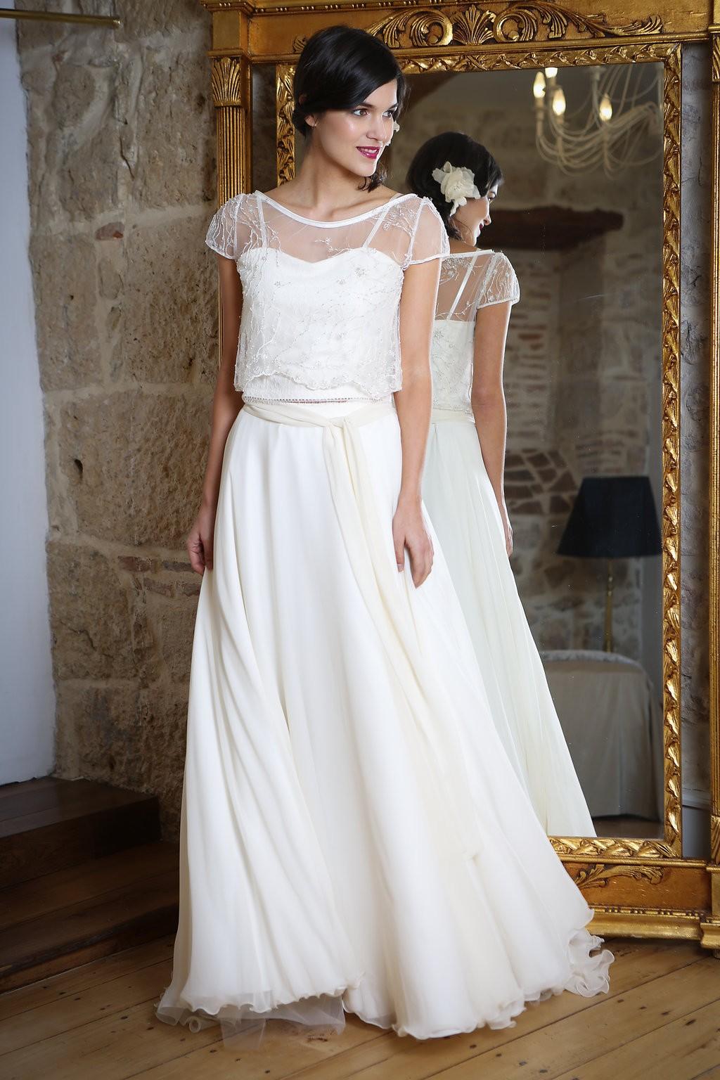 77ad07fed09 La créatrice Elsa Gary a bien compris le dilemme des « brides to be » et  propose une nouvelle collection de robes de mariée pour tous les styles et  à des ...