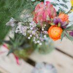 Décoration florale pour un mariage bohème