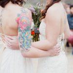 Cérémonie laïque d'un couple lesbien