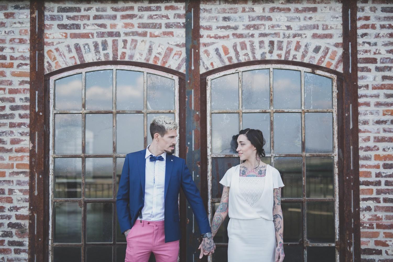 Mariage sur le thème industriel en Ile-de-France