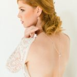 """Tessa"" Collier de mariée avec bijou original robe dos nu"