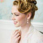 """Couronne diadème mariage """"Romy"""" avec fleurs et perles d'eau douce"""