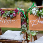 Panneau des mariés