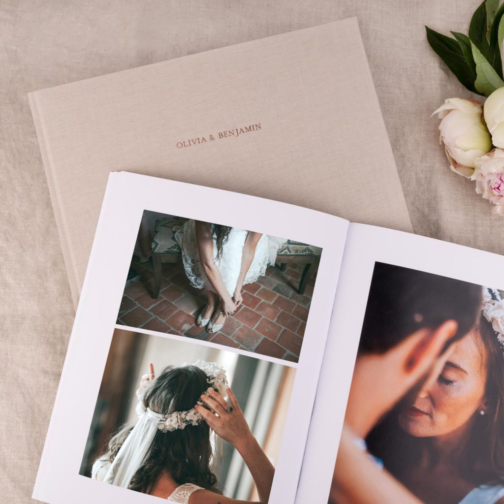 Album photo mariage couverture tissu Atelier Rosemood
